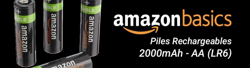 Bannière piles rechargeables Amazon