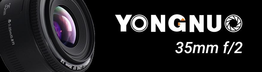 Bannière Yongnuo 35mm f/2
