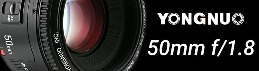Bannière Yongnuo 50mm f/1.8