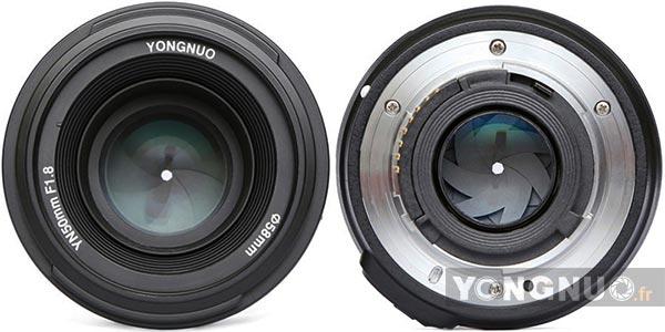 Avant Arrière Yongnuo f/1.8 50mm Nikon