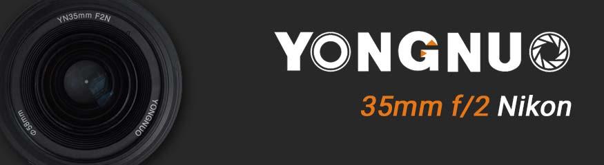 Bannière Yongnuo 35mm f/2 nikon
