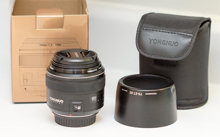 contenu boîte yongnuo 85mm