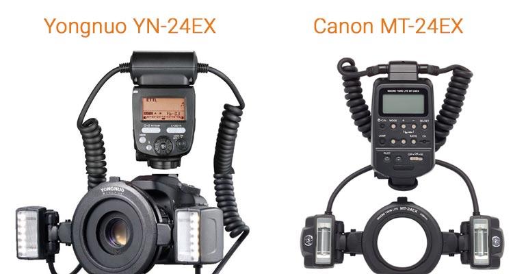 comparaison yongnuo yn24ex et canon mt-24ex