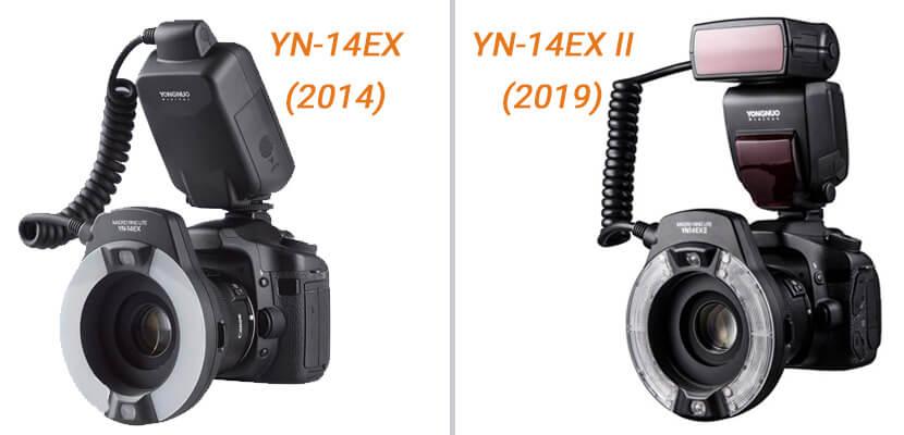 comparaison yn14ex vs yn14ex-ii - Avant