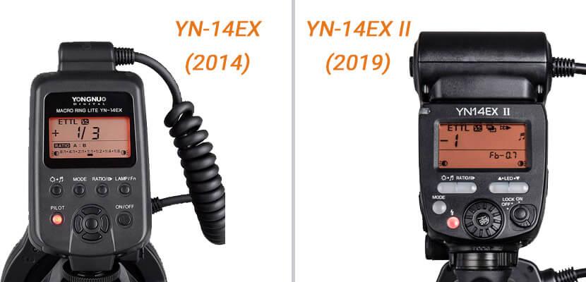 comparaison yn14ex vs yn14ex-ii - Tête