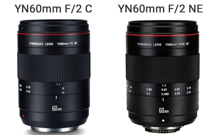 Comparaison YN60mm Canon et Nikon